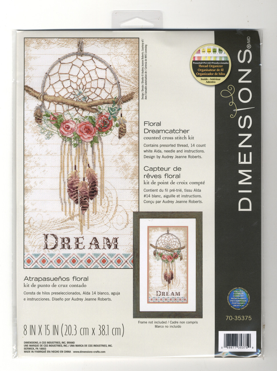 Dimensions - Floral Dreamcatcher