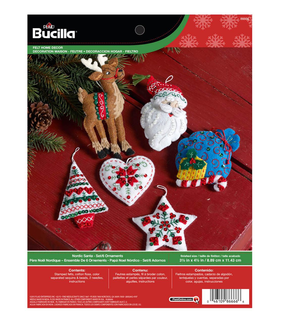 Plaid / Bucilla - Nordic Stanta Ornaments