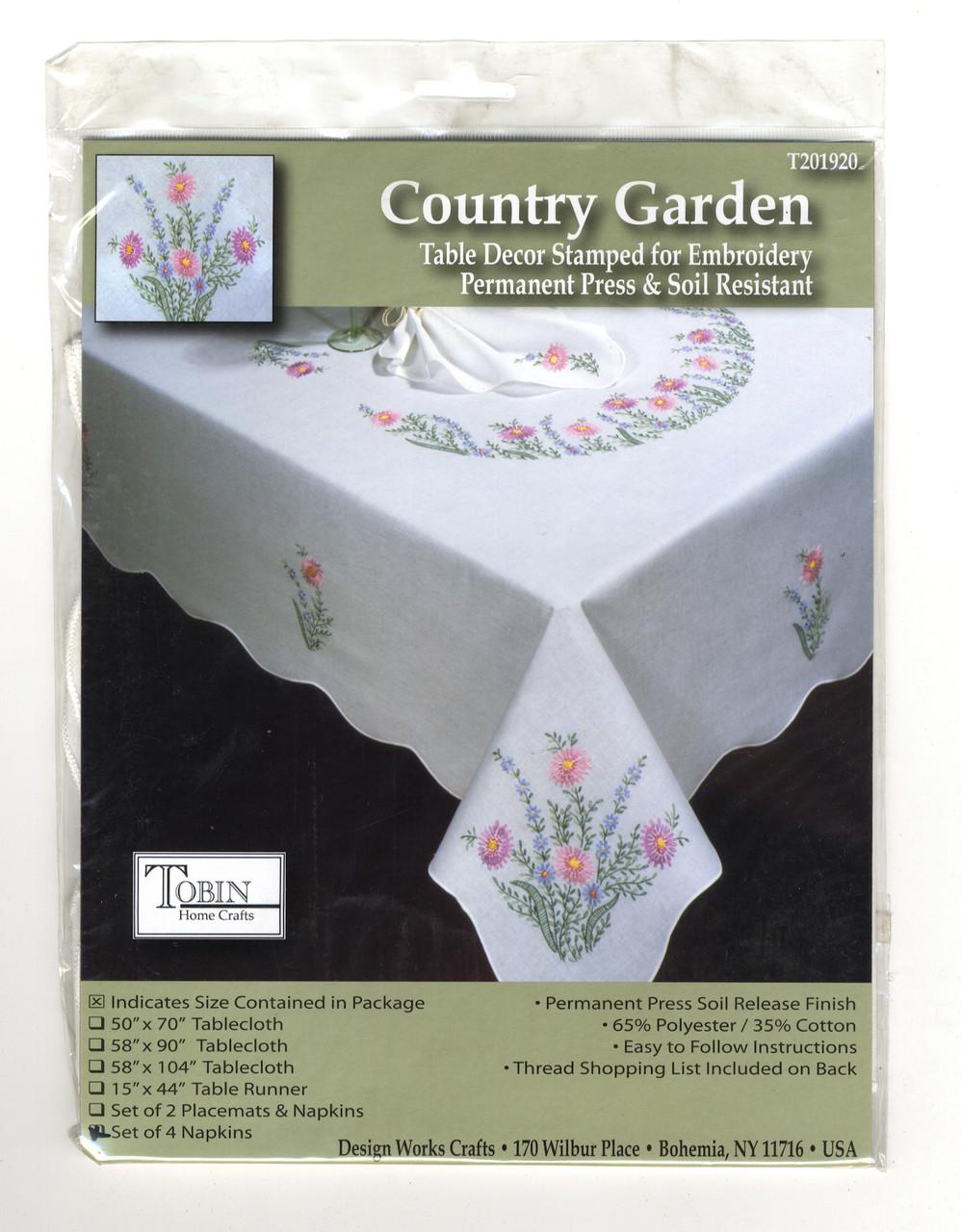 Design Works - Country Garden Napkins (Set of 4)