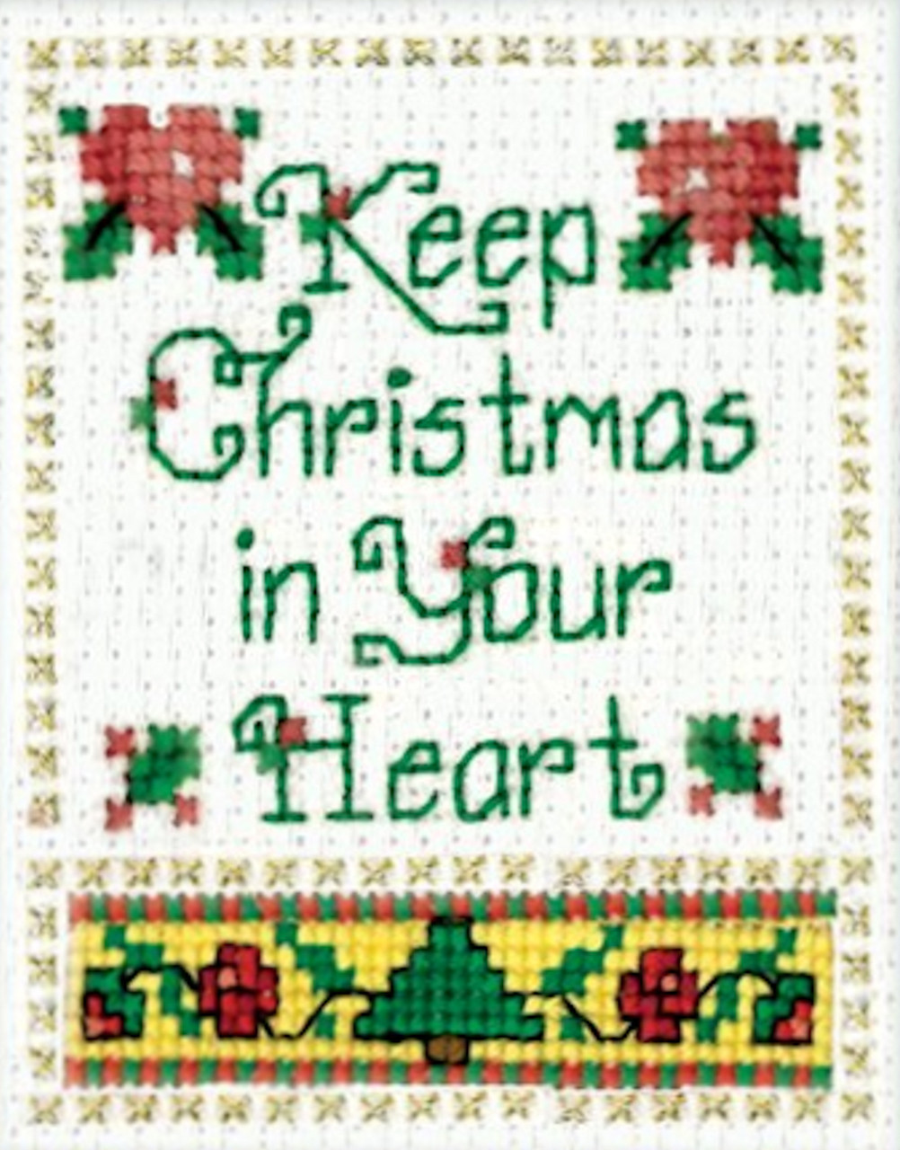 Design Works Stitch Studio - Christmas In Your Heart Kit w/Frame