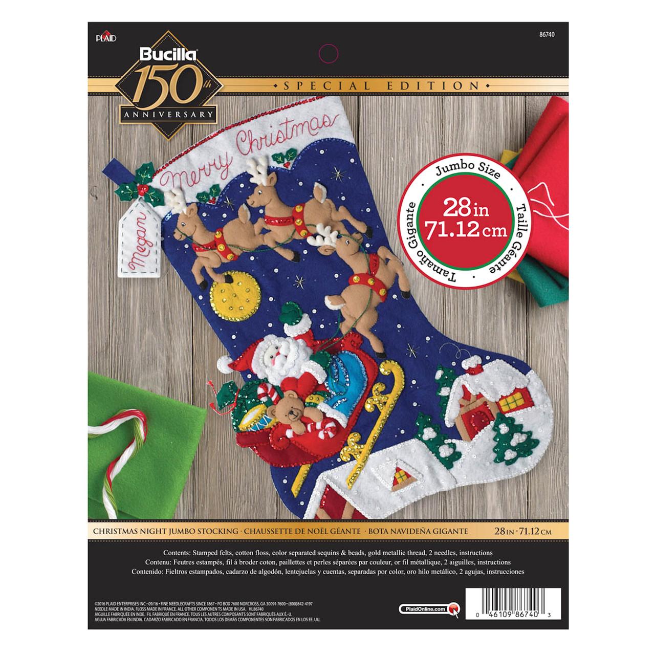 Plaid / Bucilla - Christmas Night Jumbo Stocking