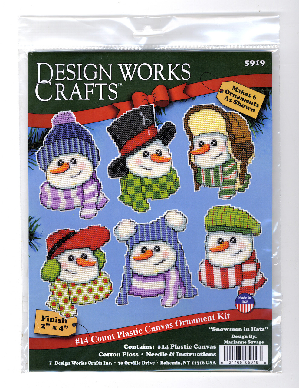 Design Works - Snowmen in Hats Ornaments