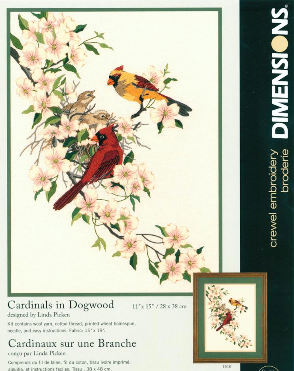 Dimensions - Cardinals in Dogwood