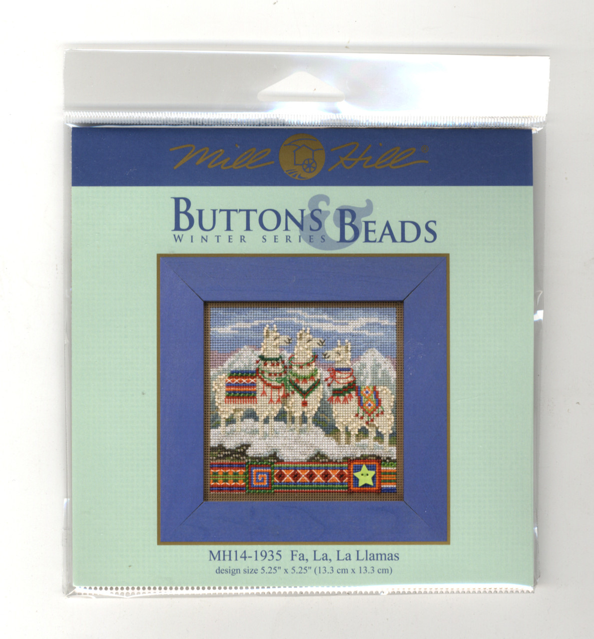 FA La La Llamas Beaded Counted Cross Stitch Kit Mill Hill Buttons /& Beads 2019 Winter Series MH141935