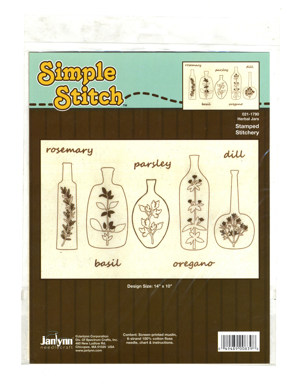 "Janlynn ""Simple Stitch"" - Herbal Jars"