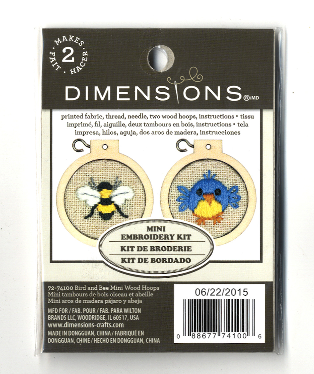 Dimensions Minis - Bird and Bee Mini Wood Hoops