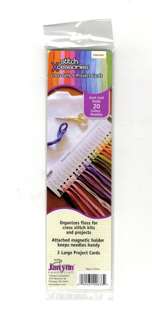 Janlynn - Cross Stitch Floss Organizer Card (Pack of 3)