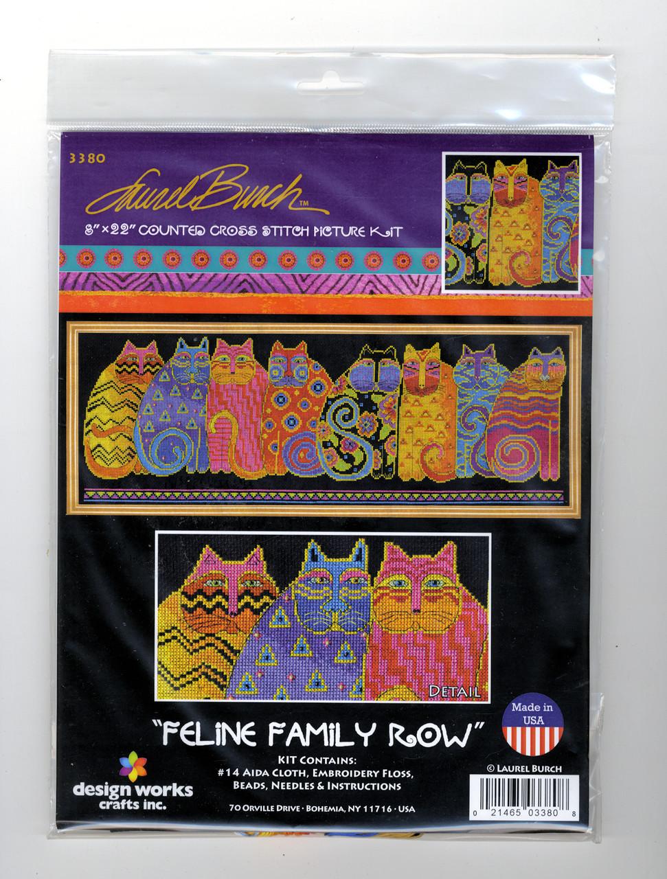 Design Works - Laurel Burch Feline Family Row