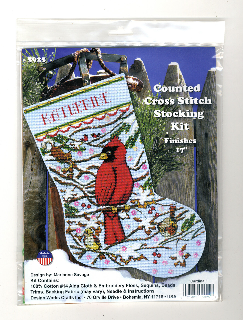 """14 Count Design Works Counted Cross Stitch Kit 17/"""" Long-Christmas Treasure"""
