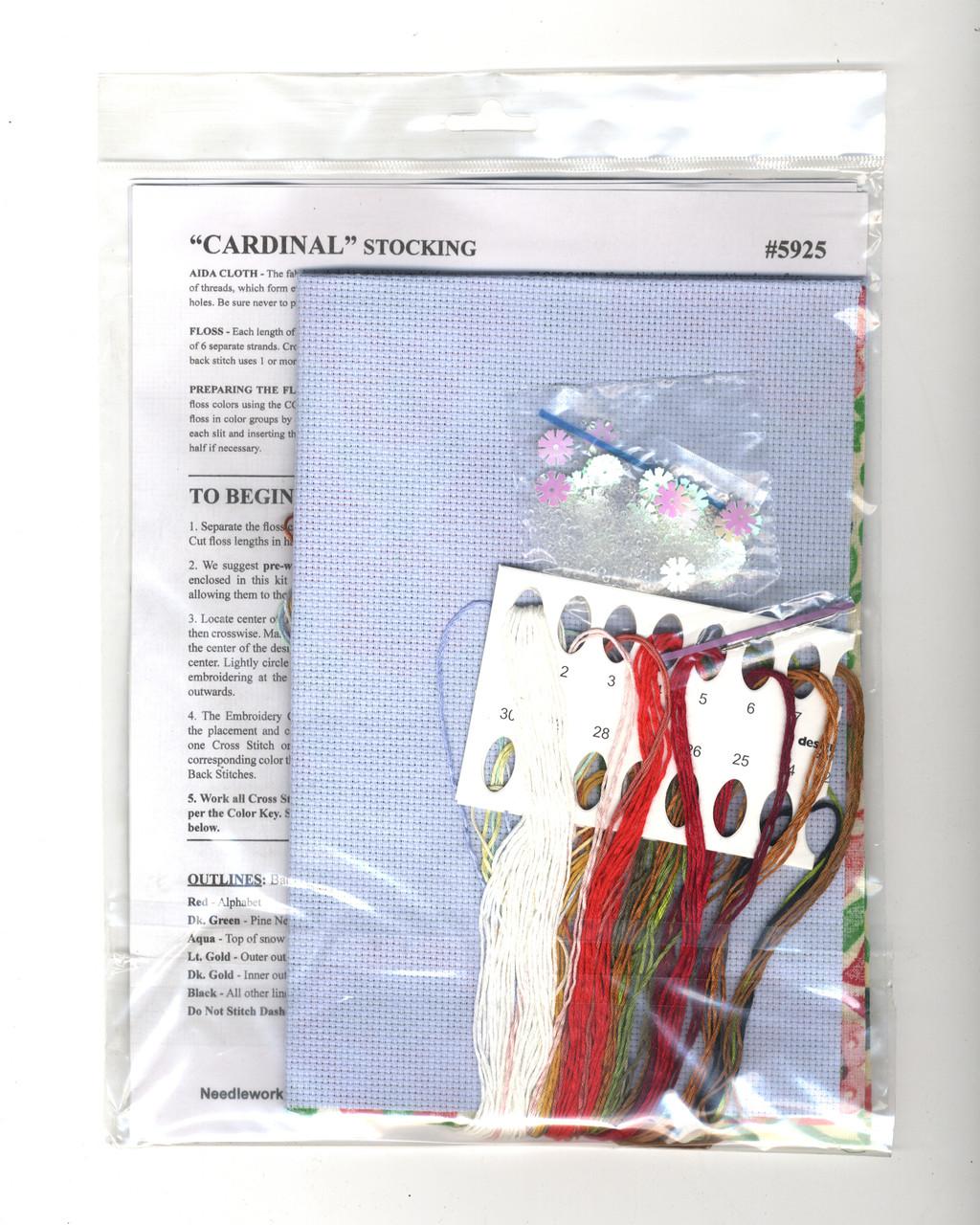 Design Works - Cardinal Christmas Stocking