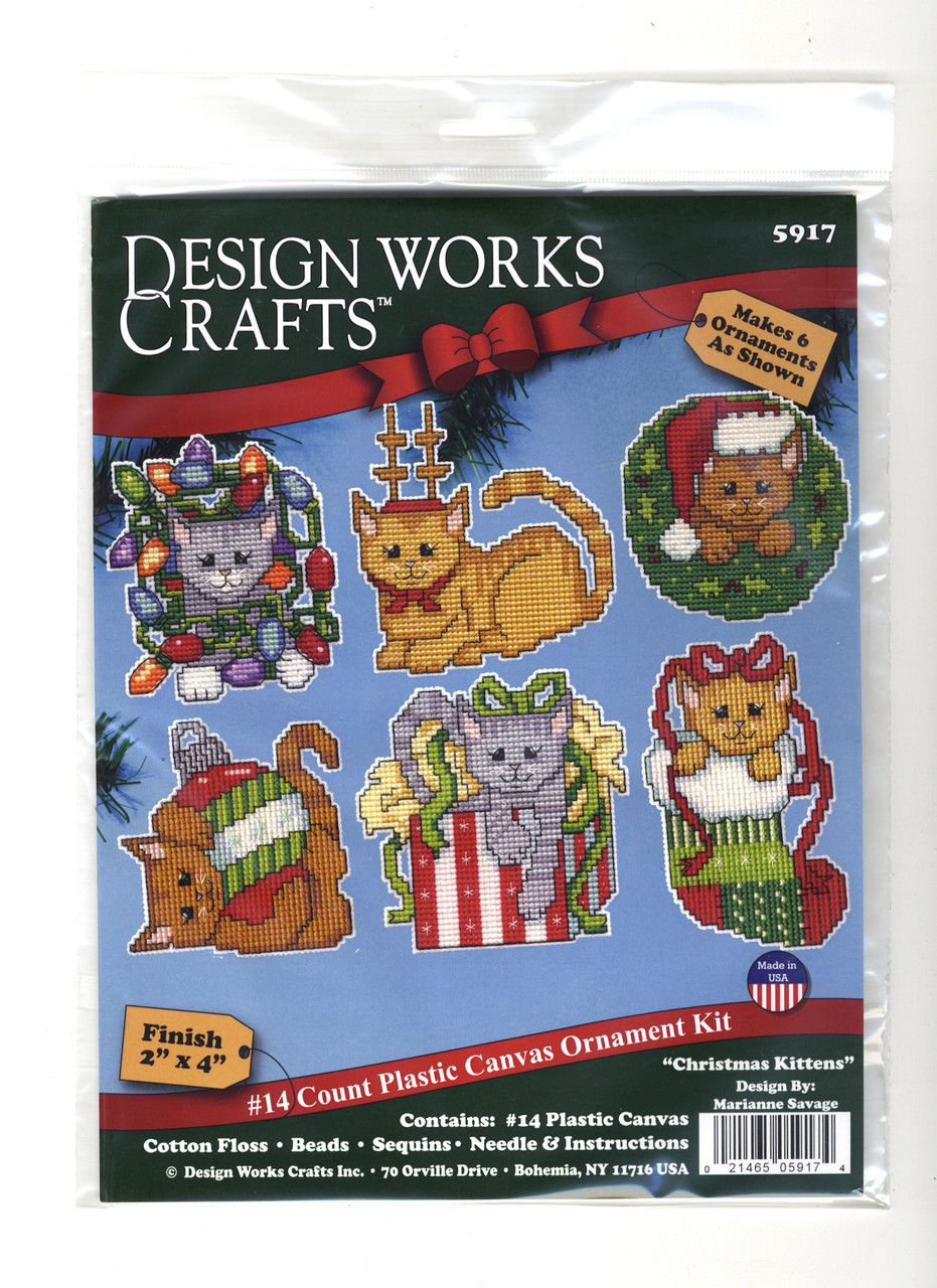 Design Works - Christmas Kitten Ornaments