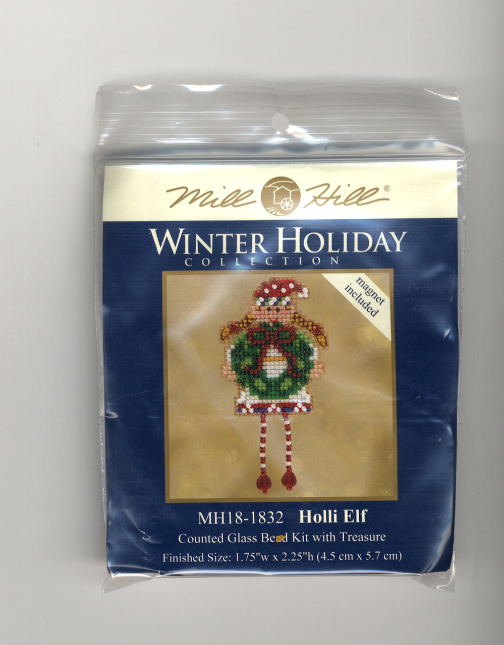Mill Hill 2018 Winter Holiday Collection - Holli Elf Ornament