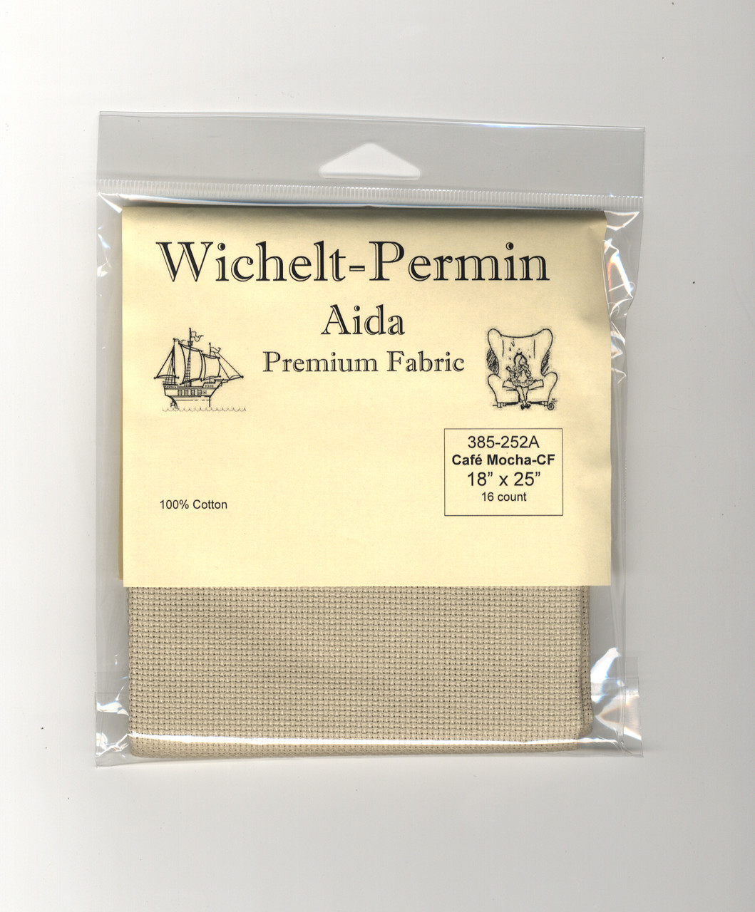 Wichelt - 16 Ct Country French Cafe Mocha Aida 18 x 25 in