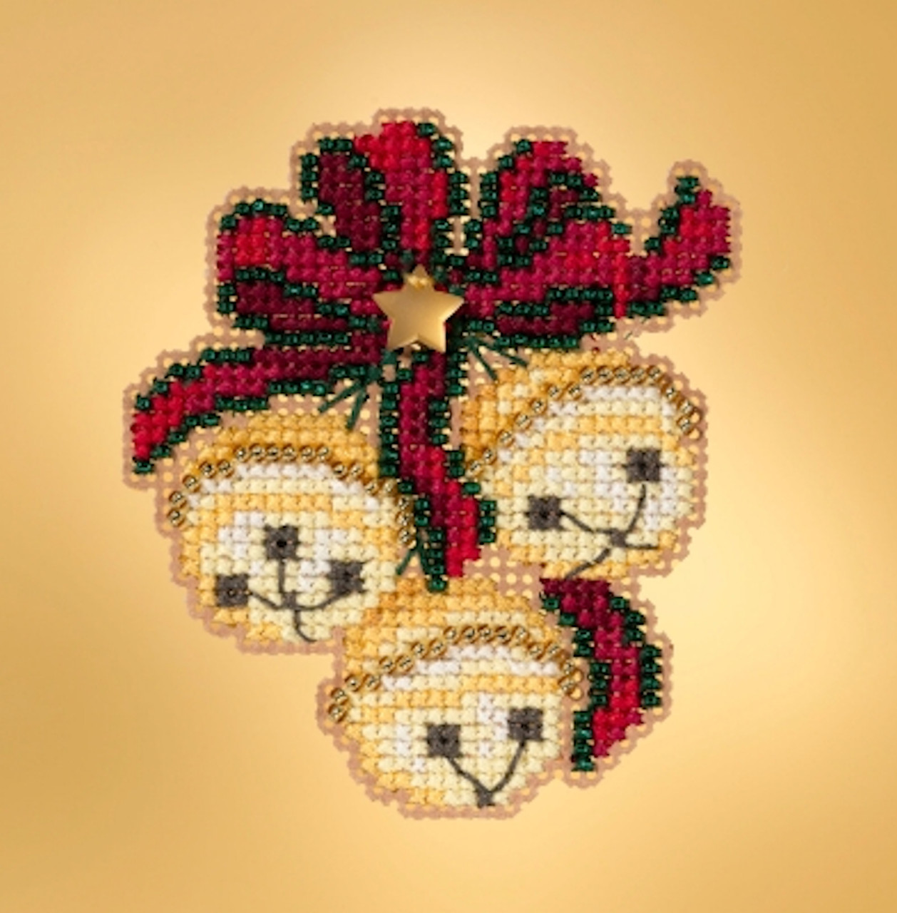 Mill Hill 2019 Winter Holiday Collection - Jingle Bell Trio Ornament