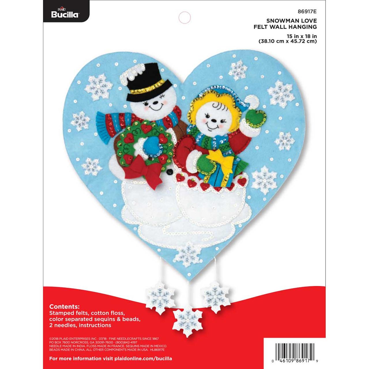 Plaid / Bucilla - Snowman Love Wall Hanging