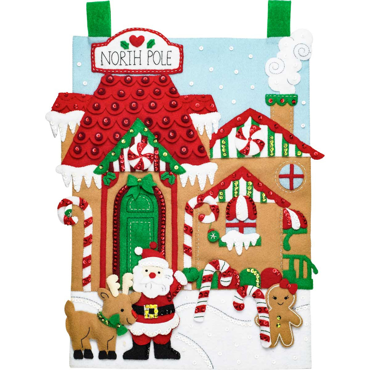 Plaid / Bucilla - North Pole Village Wall Hanging