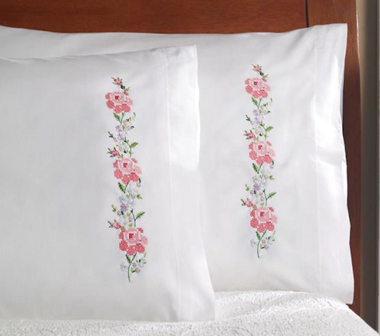 Plaid / Bucilla - Sampler Roses Pillowcases (2)