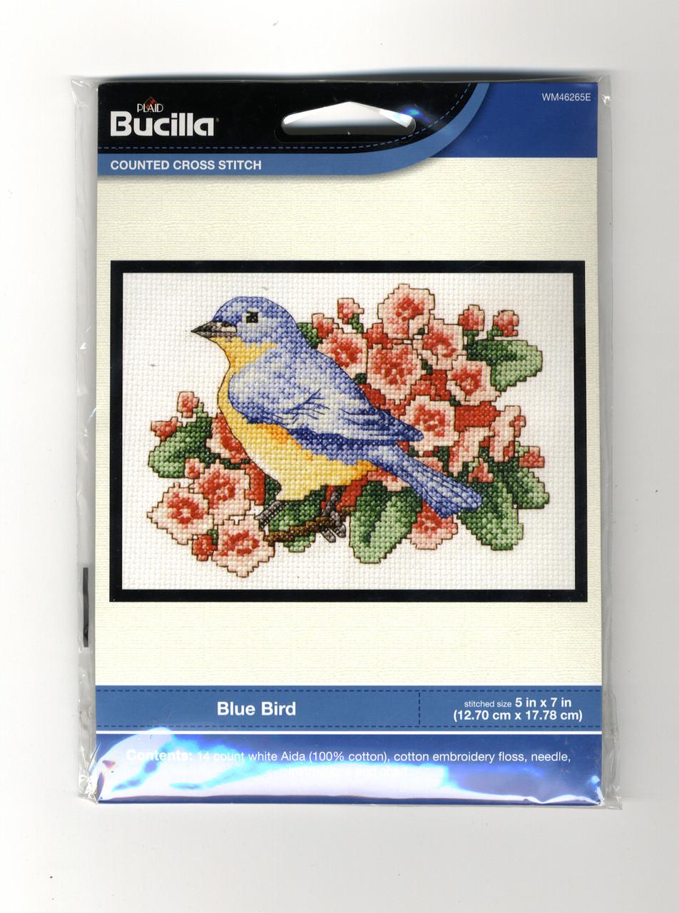 Plaid / Bucilla - Blue Bird
