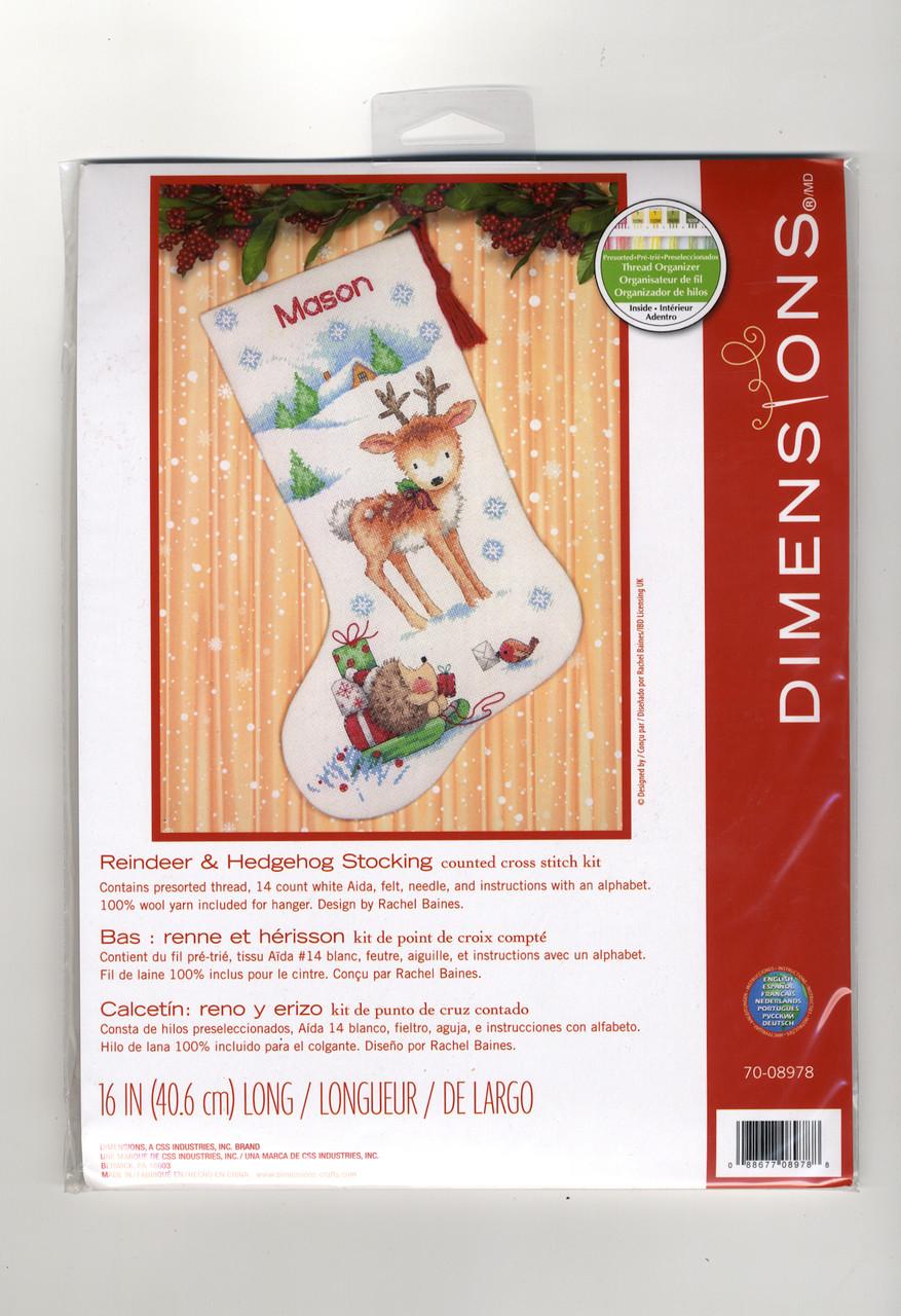Dimensions - Reindeer & Hedgehog Stocking