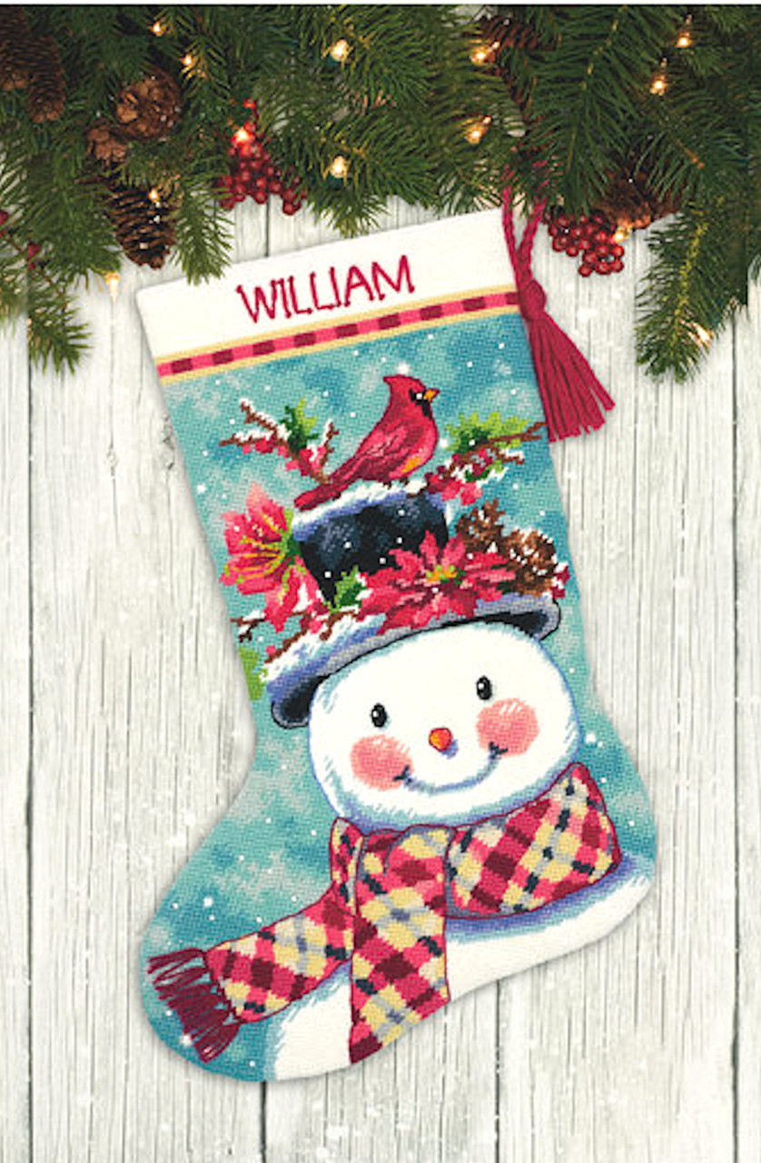 Dimensions - Seasonal Snowman Stocking