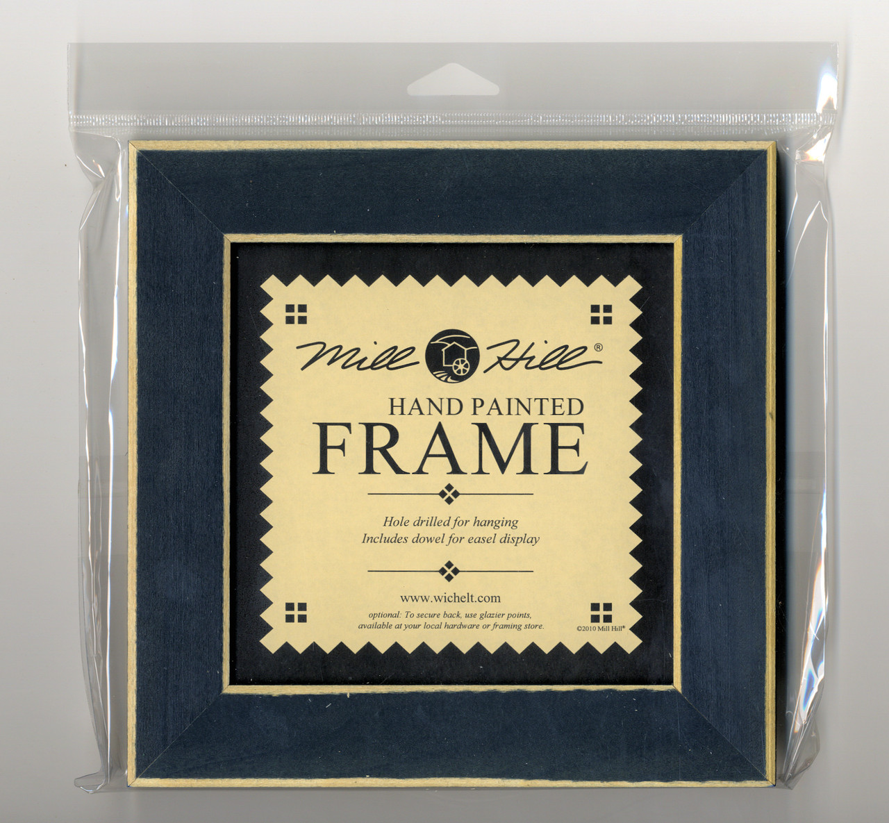 "Mill Hill - 8"" x 8"" Matte Blue Hand Painted Frame"