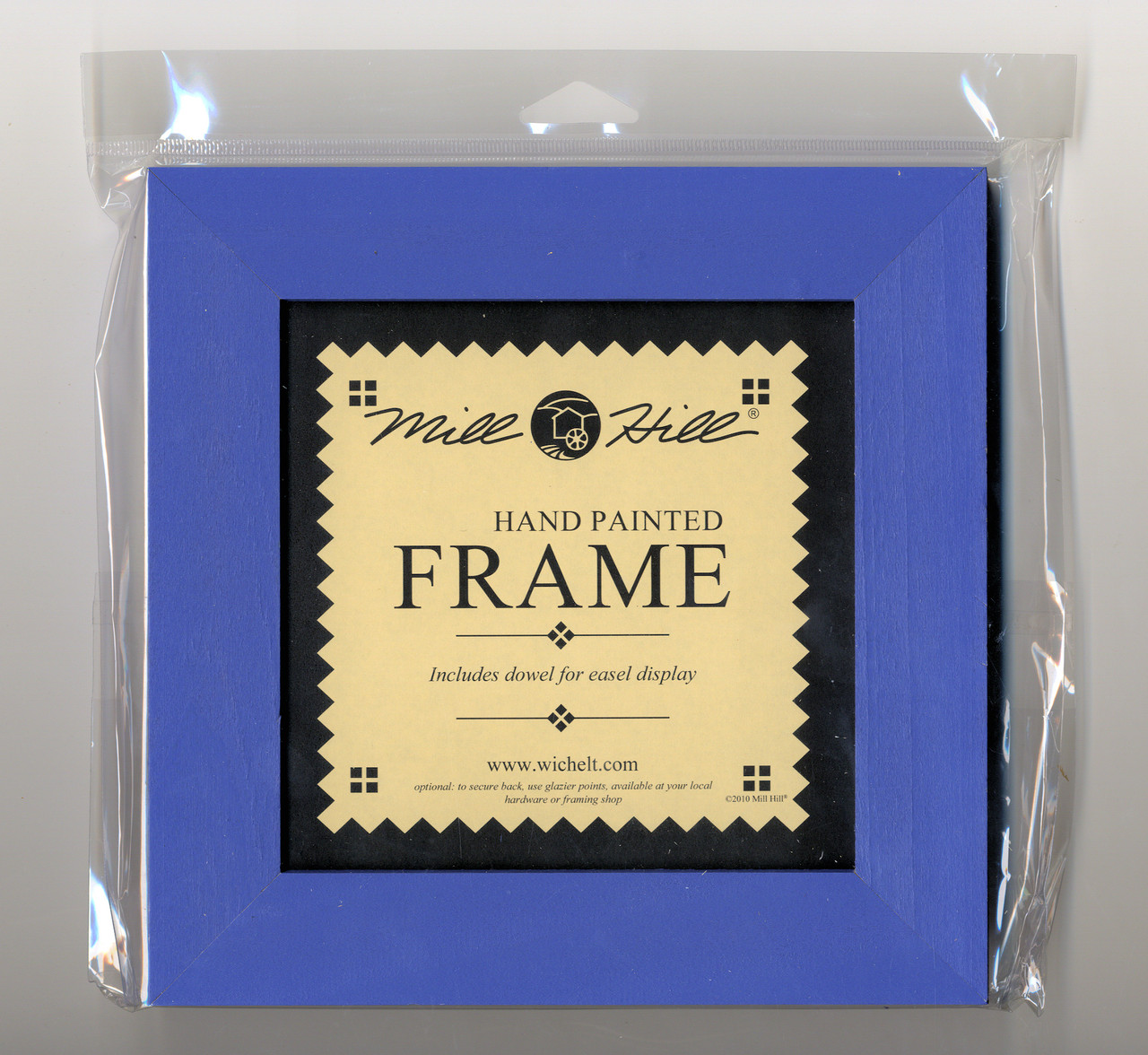 "Mill Hill - 6"" x 6"" Matte Periwinkle Hand Painted Frame"