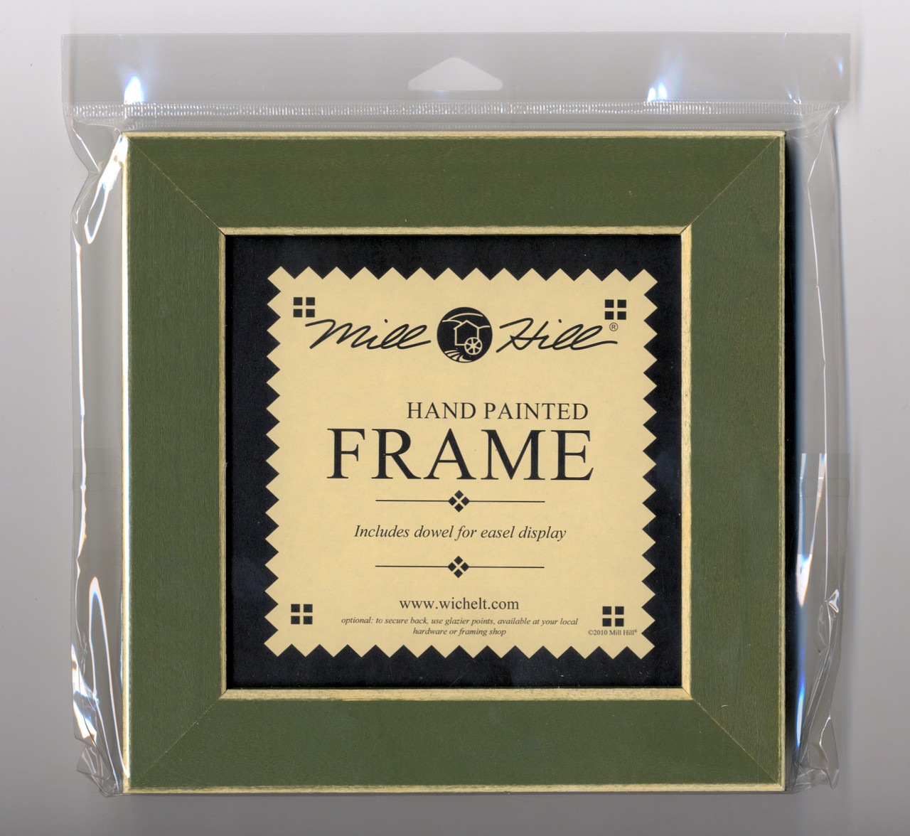 "Mill Hill - 8"" x 8"" Olive Hand Painted Frame"