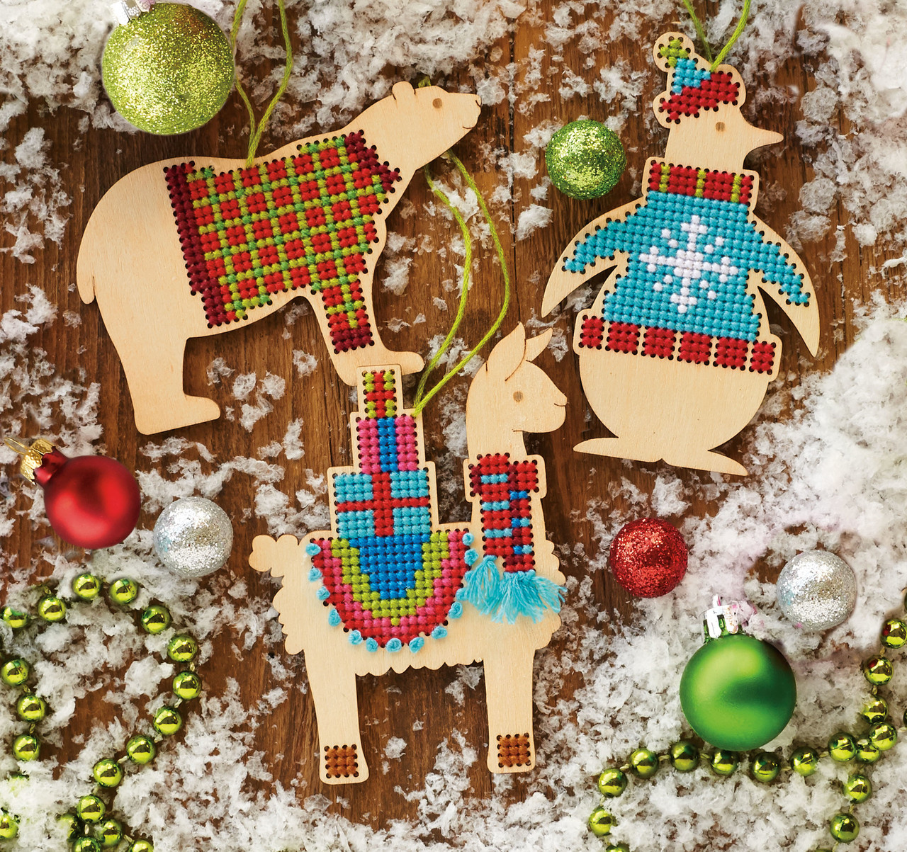Cross Stitch Kit ~ Dimensions Set of 4 Christmas Jars Ornaments #70-08964