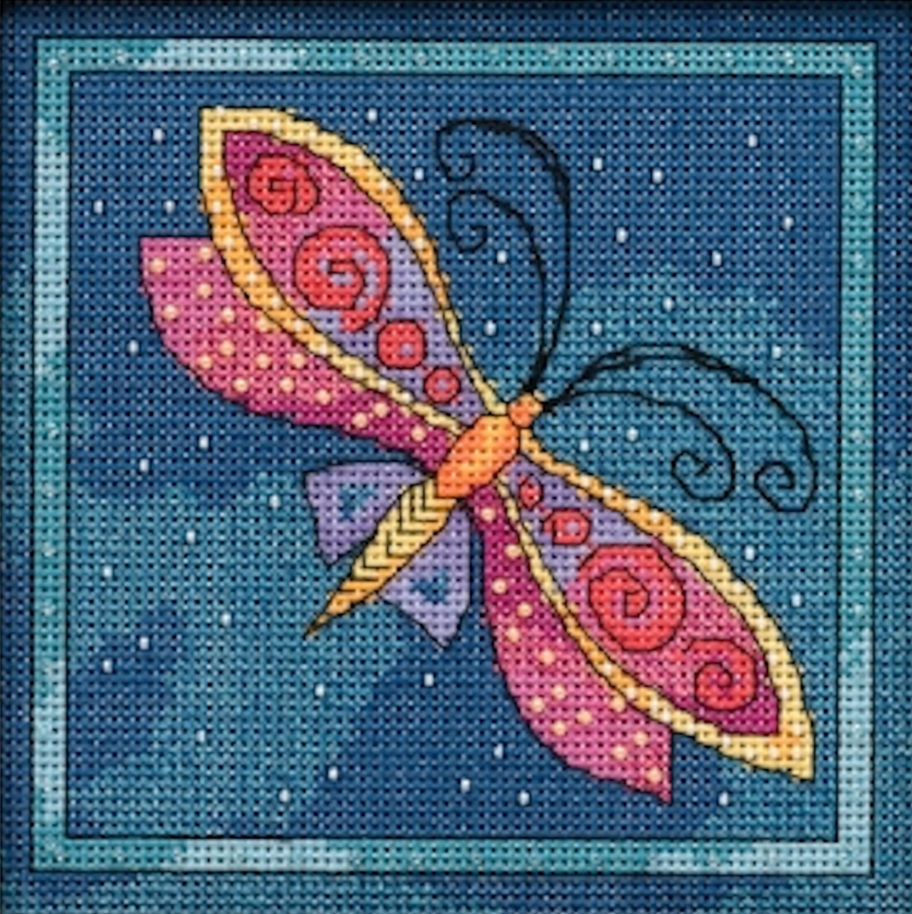 2019 Mill Hill Laurel Burch Flying Colors - Dragonfly Capri