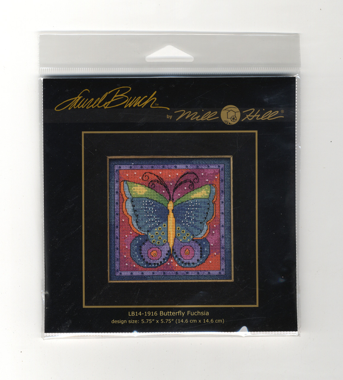 2019 Mill Hill Laurel Burch Flying Colors - Butterfly Fuchsia