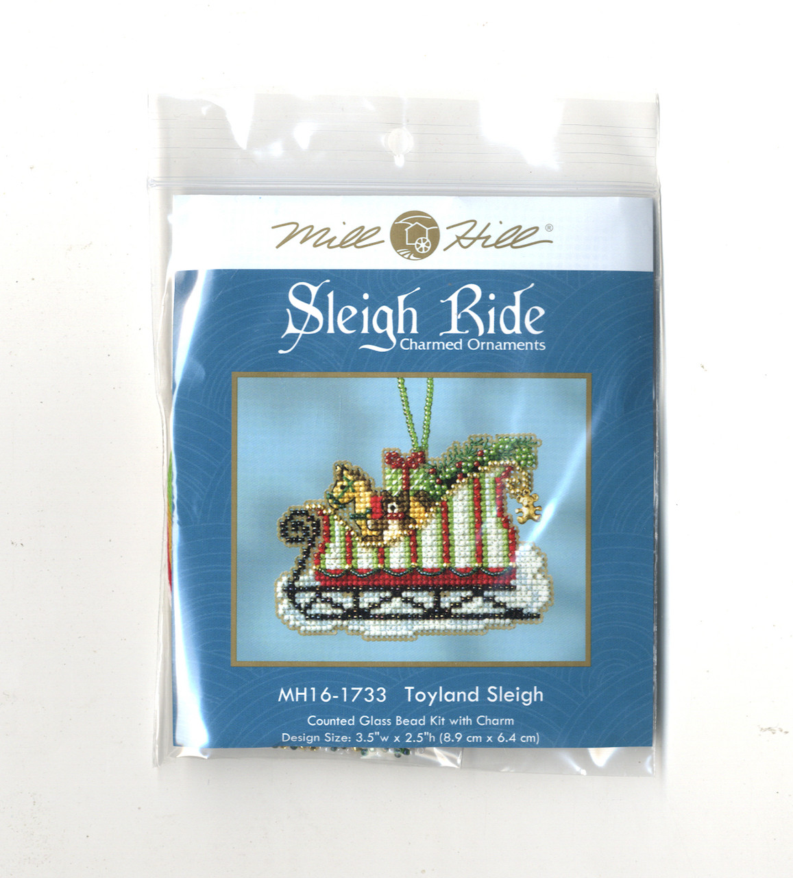 Mill Hill 2017 Sleigh Ride Charmed Ornament - Toyland Sleigh
