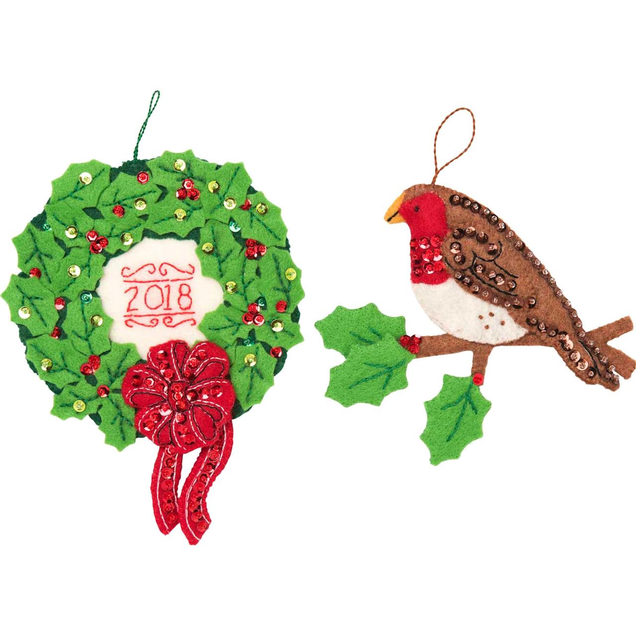 Plaid / Bucilla - Tis The Season Ornaments