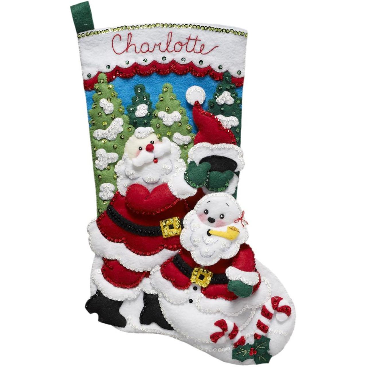 Plaid / Bucilla - Santa's Snowman Stocking