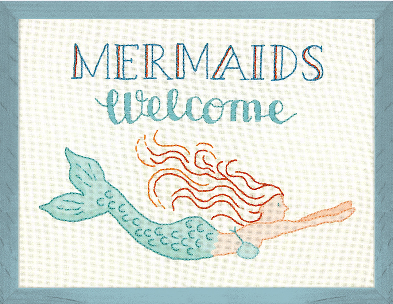Dimensions - Mermaids Welcome Picture or Pillow