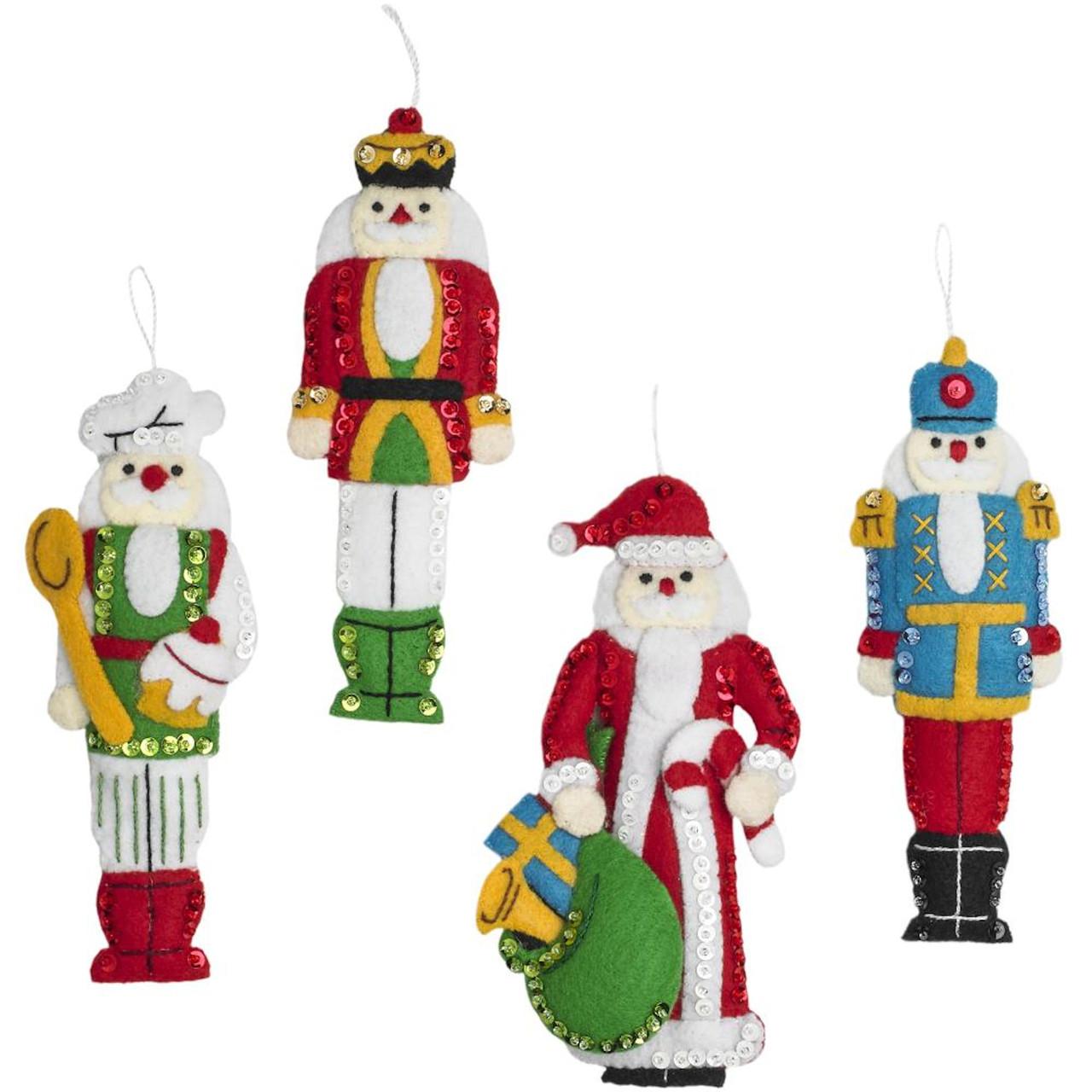 Plaid / Bucilla - Christmas Classic Nutcracker Ornaments