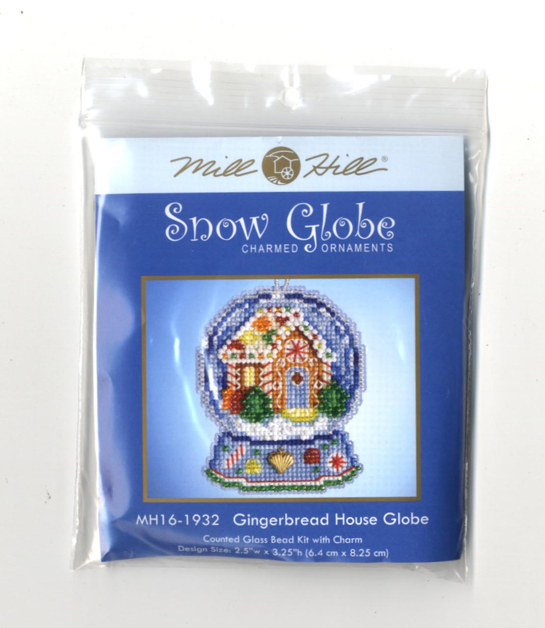 Mill Hill 2019 Snow Globe Charmed Ornament - Gingerbread House Globe