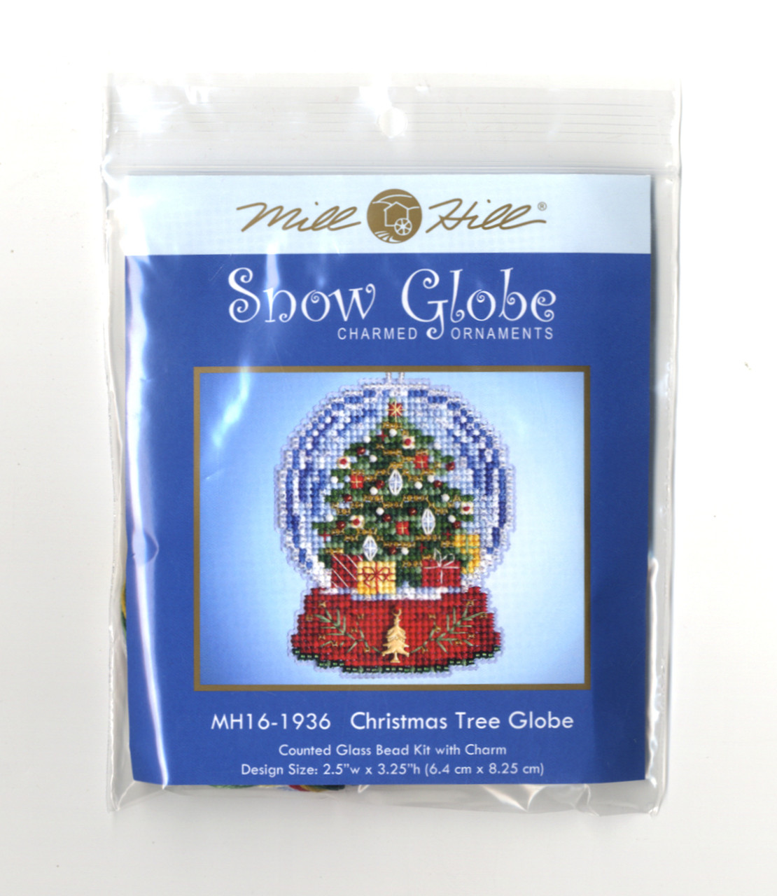 Mill Hill 2019 Snow Globe Charmed Ornament - Christmas Tree Globe