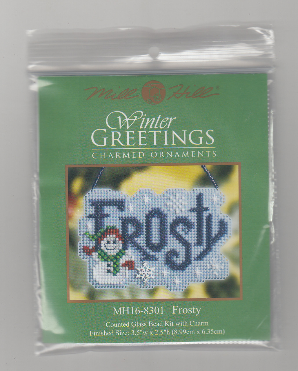 Mill Hill 2008 Winter Greetings Charmed Ornament - Frosty