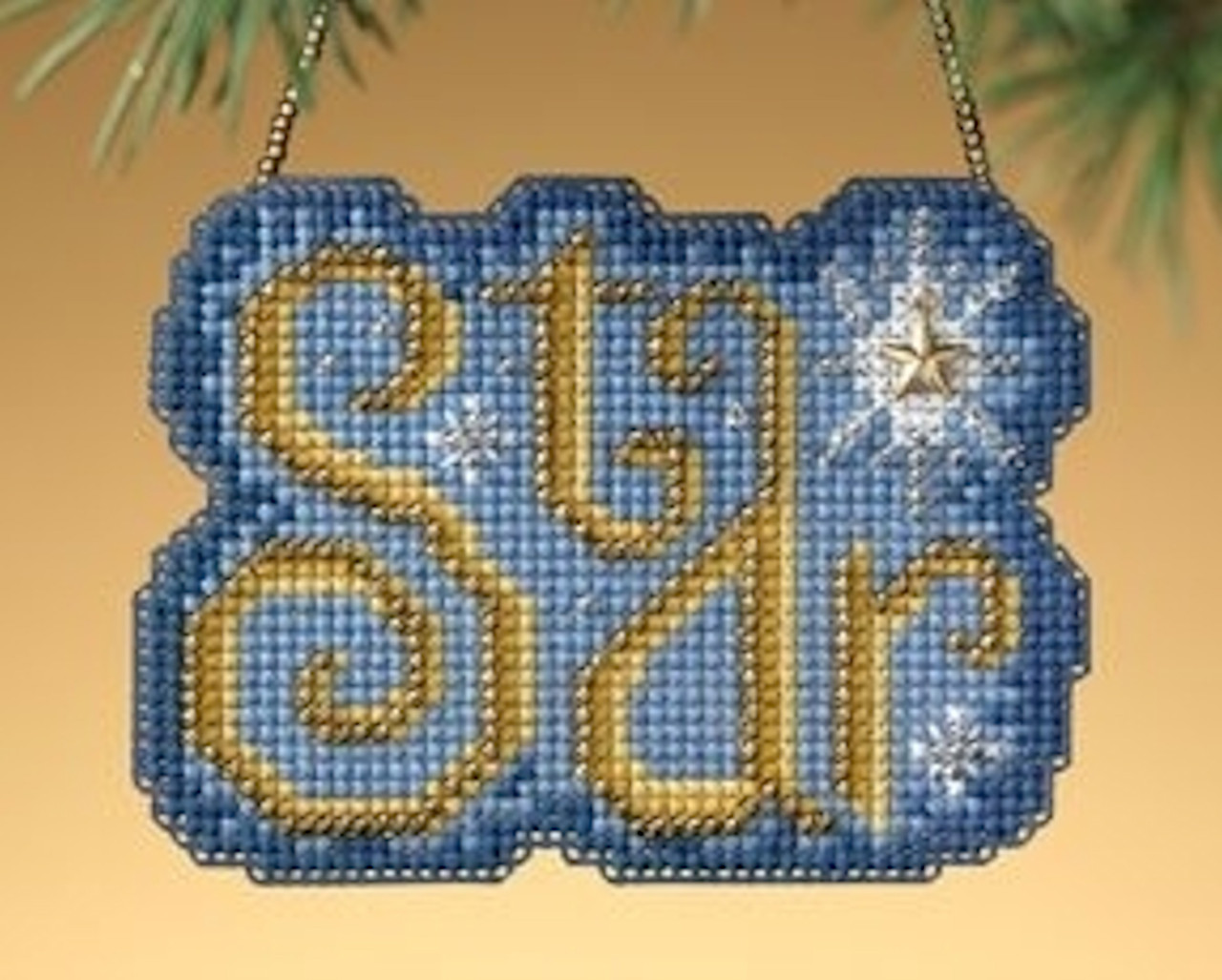 Mill Hill 2009 Winter Greetings Charmed Ornament - Star