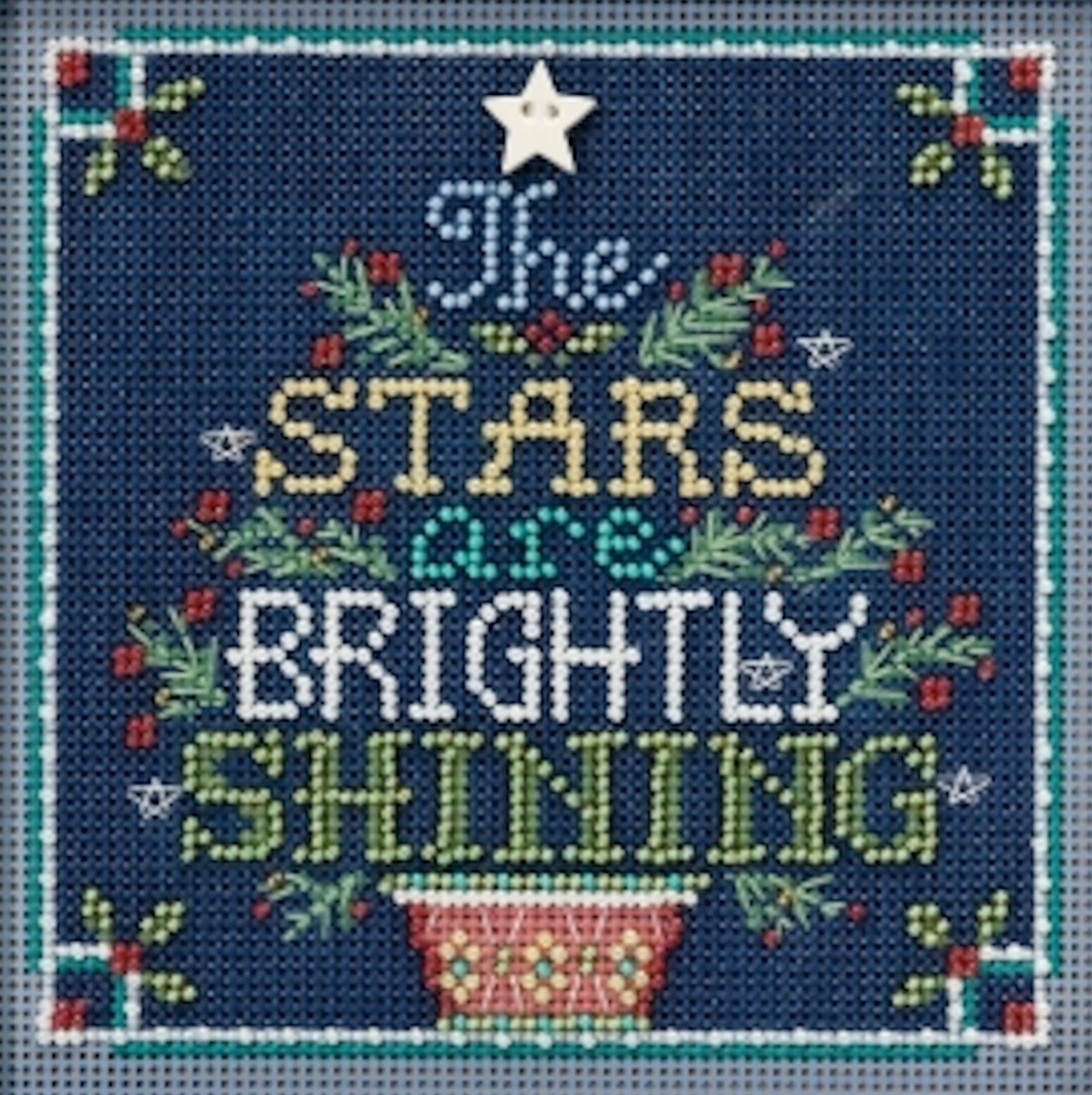 Brightly Shining Cross Stitch Kit Mill Hill 2018 Buttons Beads Winter MH141833