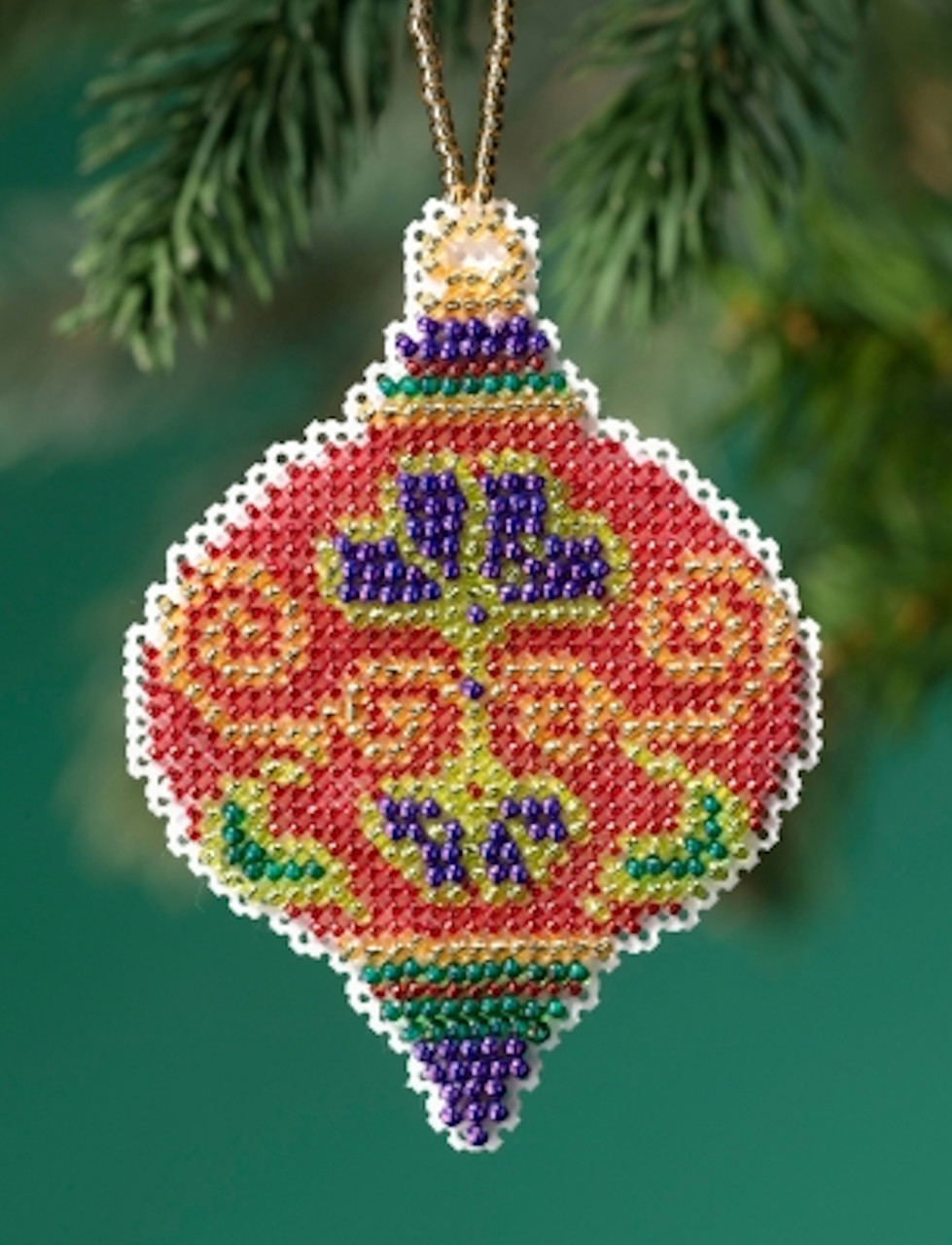 Mill Hill 2019 Beaded Holiday Ornament - Crimson Cloisonne