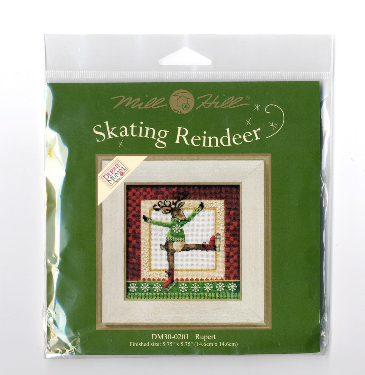 2010 Mill Hill Debbie Mumm Skating Reindeer Series (Set of 4 Kits)