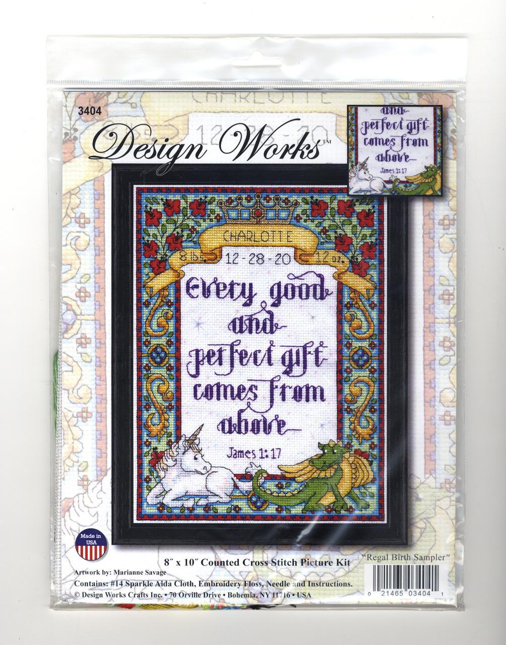 Design Works - Regal Birth Sampler