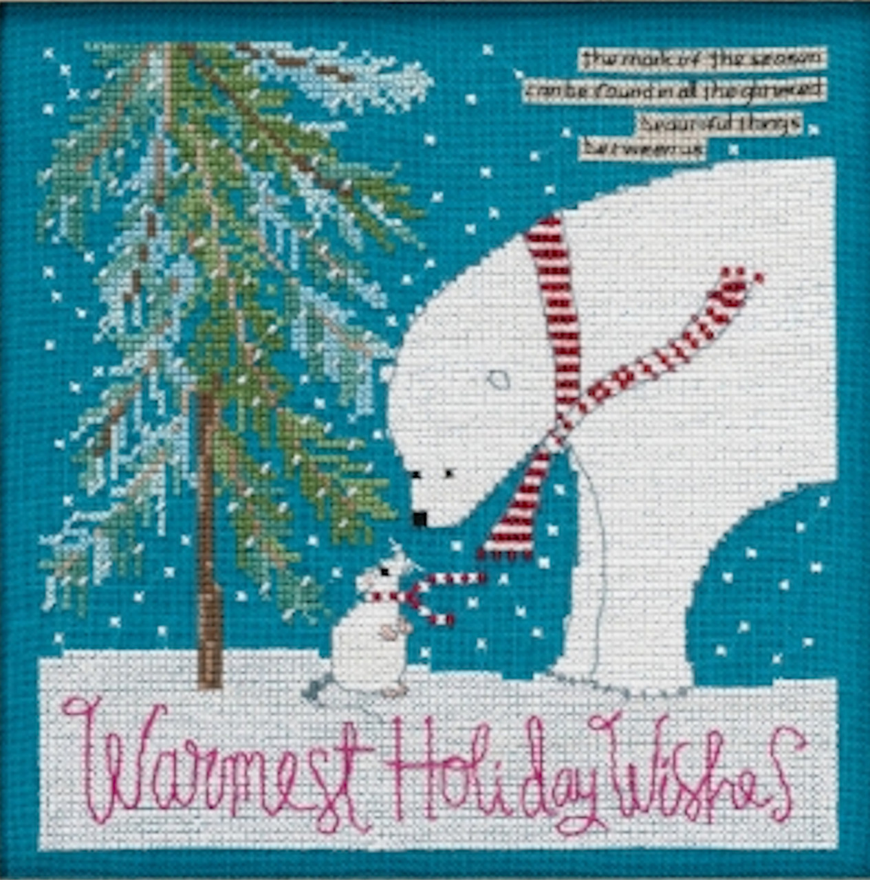Mill Hill 2019 Curly Girl Design - Warmest Wishes