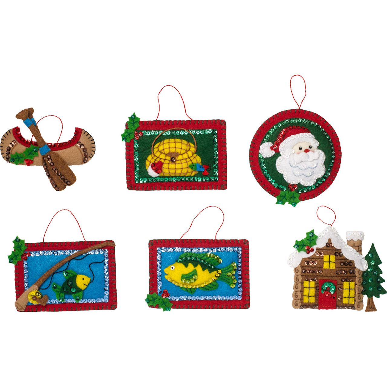 Plaid / Bucilla -  Lodge Christmas Ornaments