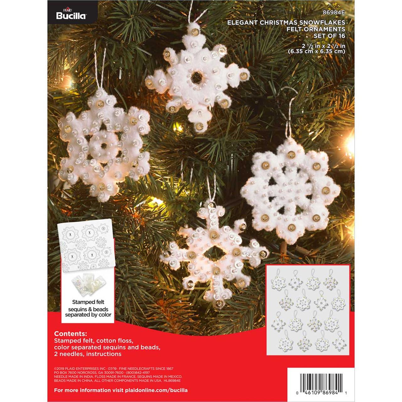 Plaid / Bucilla -  Elegant Christmas Snowflake Ornaments