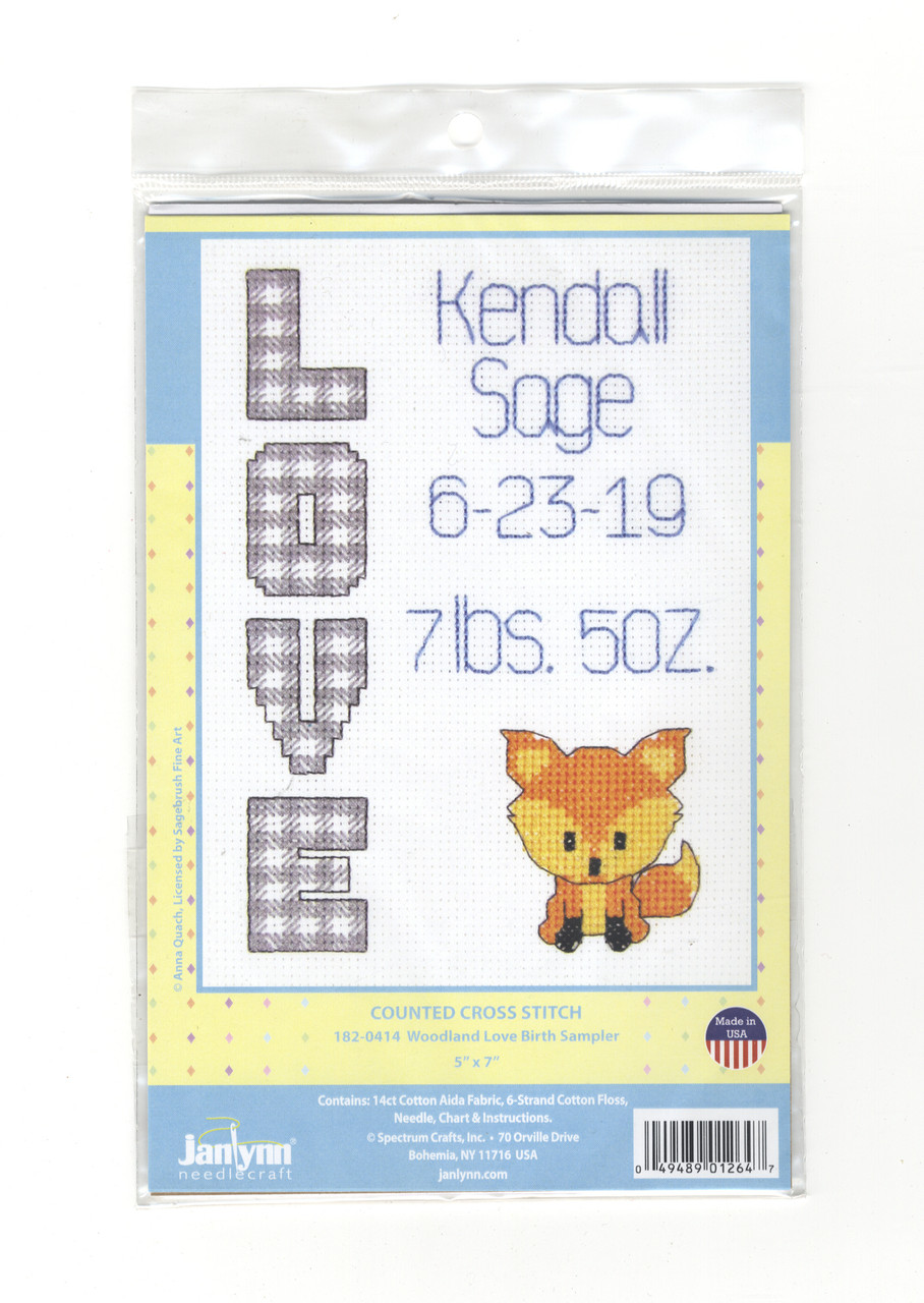 Janlynn - Woodland Love Birth Sampler