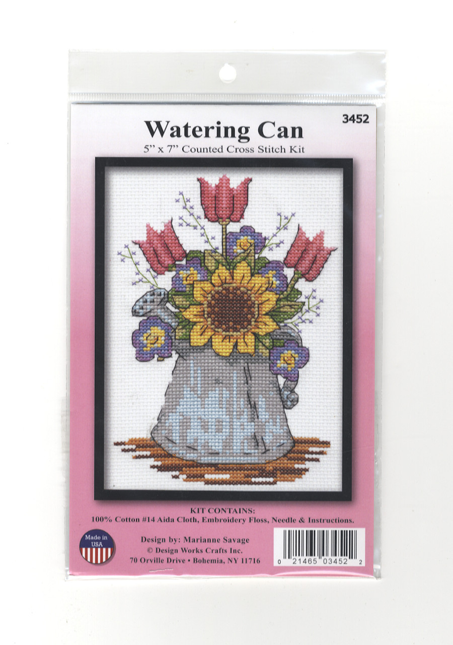 Design Works - Watering Can w/Flowers