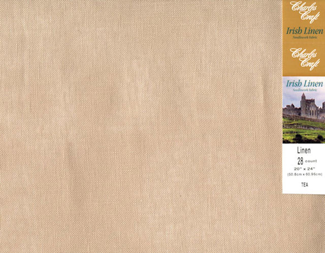 Charles Craft - 28 Ct Tea Irish Linen 20 x 24 in