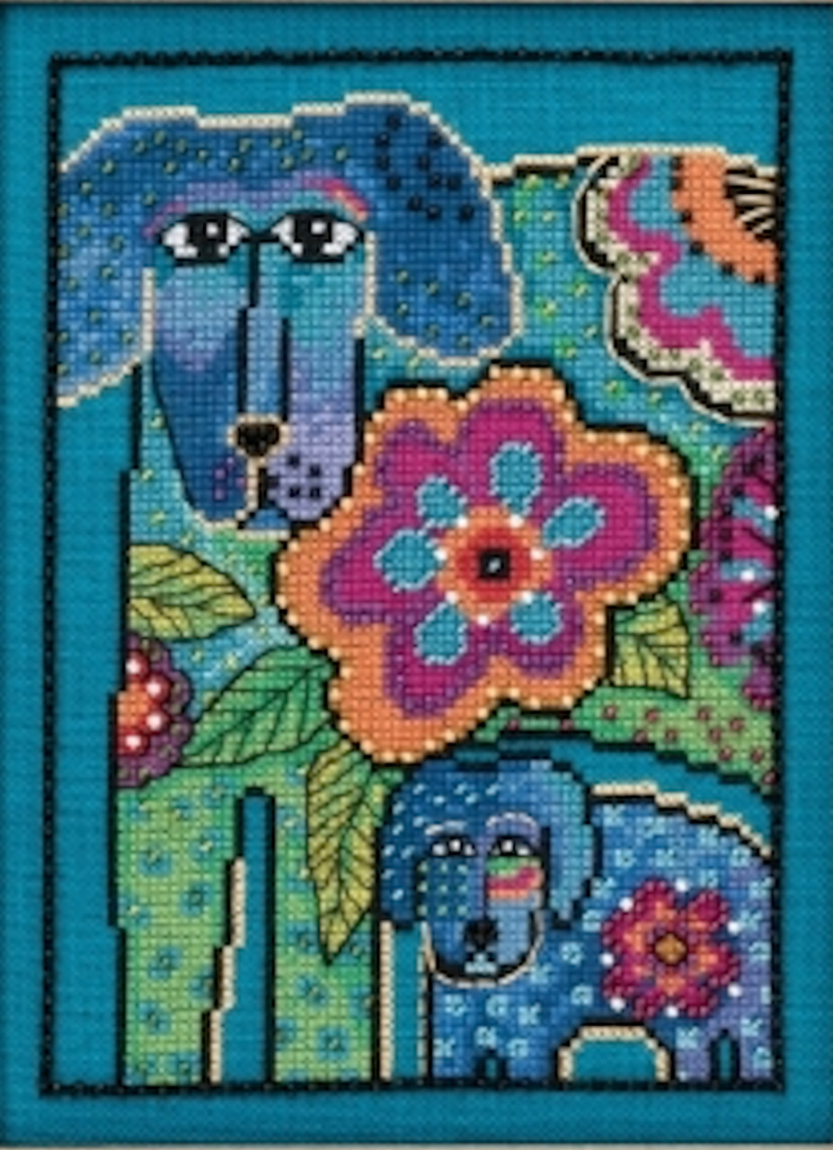 Mill Hill / Laurel Burch - Petunia and Rose (LINEN)